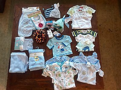 All Brand New Awesome Newborn/Baby Boy's Huge Clothing Bundle Sz 0-12 Months