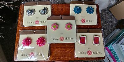 ~ Lot of 5 Lindsay Phillips Interchangeable Shoe Snaps - New on Original Cards ~