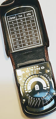 Vintage Exposure Meter Super Actino with Leather Case