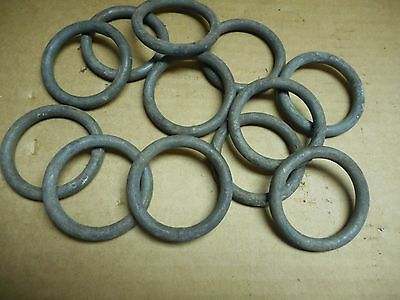 (12)  2 Inch Galvanized Steel Deck Rings  /sailes/ Block Tackle ???