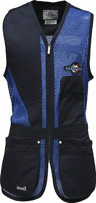 Castellani London Sporting Mesh Fabric Recoil Pad Skeet Vest Clay Pigeon New