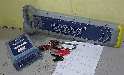 Calibrated Radiodetection RD2000+ Cat and T1 Signal Genny scanner detector sonde