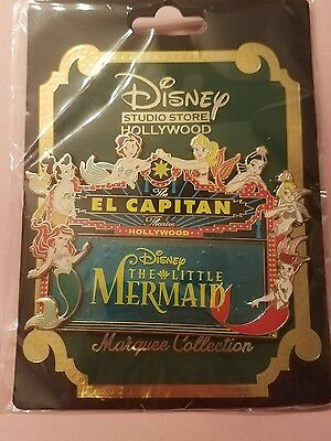 Disney DSSH DSF Animation Celebration Little Mermaid El Capitan Marquee LE Pin