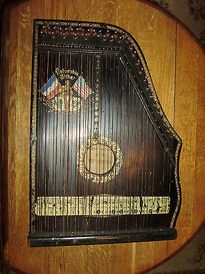 Ancienne cithare Columbia Zither a rénover.