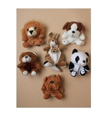 Mini Soft Toy Coin Purse Animal Money Bag Kid's Party Lion,Panda,Puppy Loot Gift