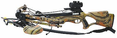 Four Point Crossbow Package New 300FPS Autumn Camo Stock MK-300AC New