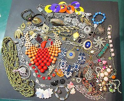 Lot Vintage/New Jewelry Rhinestone Junk Drawer Upcycle Beautiful Some Resaleable