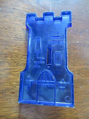 1950s Castle Tower Blue Plastic Cookie Cutter Robin Hood Flour Ad Promotion