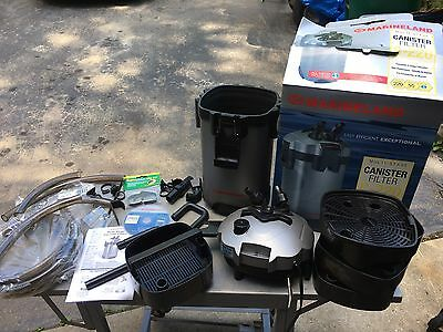 marineland c-220 canister Filter 220 Fish tank Hoses Clamps Working Aquarium