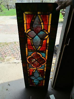 Vintage Gothic Style Stained Glass Window