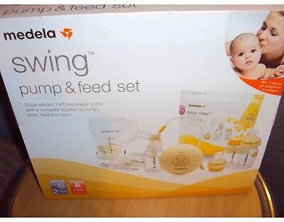 medela swing pump and feed set single electric breastpump with calma