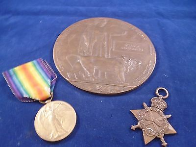 WWI 1914-15 Star Medal Victory Medal Memorial Plaque W. Stairmand, 1st Dragoon