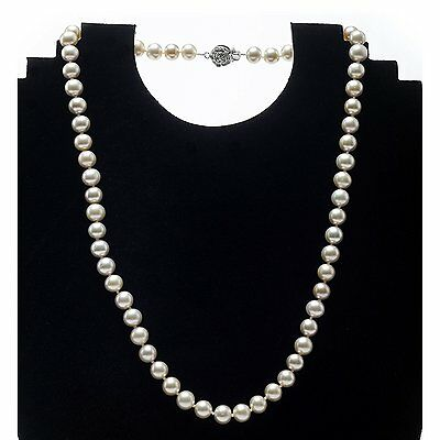 Beautiful Rose Freshwater Pearl 18 inch Necklace with Sterling Silver Clasp.