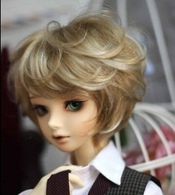 "1/6 1/8 bjd 5-6"" head doll wig 2 colors mixed AE Lati Tiny W-176XS"