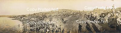 A print of Scottish troops landed at Suvla Bay, Gallipolli early Sept 1915
