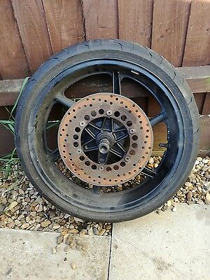 1994 Honda CBR600 F2 Complete Front Wheel, Brake Discs, Tyre & Spindle