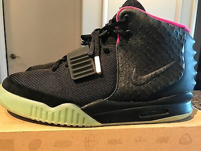 Nike Air Yeezy 2 Black Solar Red NRG Size 10