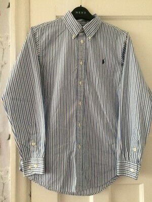 Ralph Lauren Boys Shirt Age 16 With Long Sleeves And Button Down Collar