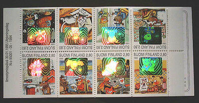 FINLAND - 1995 'Dog Hill' Children's Books - Booklet stamps with Holograms MNH