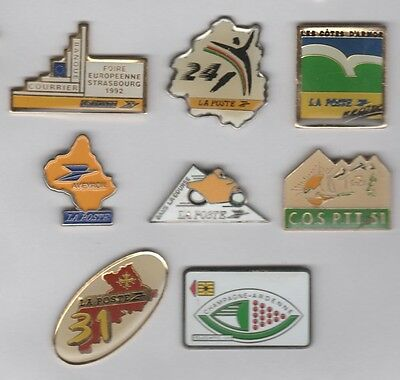 Lot de 8 Pin's La Poste PTT