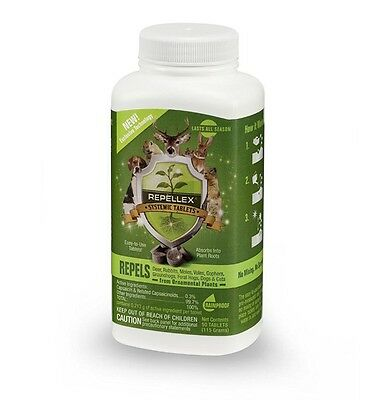 NEW REPELLEX SYSTEMIC ANIMAL REPELLENT DEER REPELLENT 50 TABLETS  23A2 Free Ship