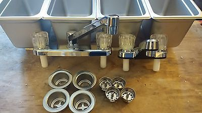Standard 3 Compartment Sink Set & Hand Wash for Concession Stand Food Trailer