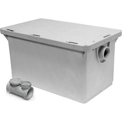 "Commercial Kitchen Endura Grease Trap 50 lb 25 G.P.M. with 3"" Inlet/Outlet"