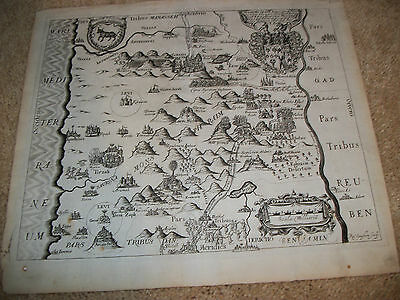 "Antique Map From Thomas Fuller's ""a Pisgah Sight Of Palestine,"" London, 1650"