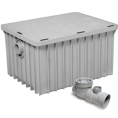 "Commercial Kitchen Endura Grease Trap 70 lb 35 G.P.M. with 3"" Inlet/Outlet"