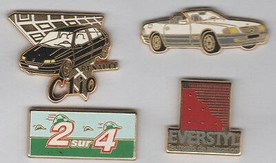 Lot de 4 Pin's Arthus Bertrand - Renault Mercedes PMU Everstyl