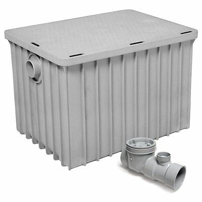 "Commercial Kitchen Endura Grease Trap 100 lb 50 G.P.M. with 3"" Inlet/Outlet"