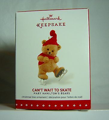 Hallmark Christmas Ornament Can't Wait To Skate Bear 2015 NEW in Box