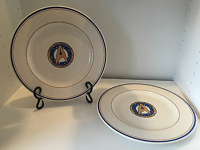 Star Trek Collectors Plates USS Enterprise NCC-1701-A Pfaltzgraff Set of 2
