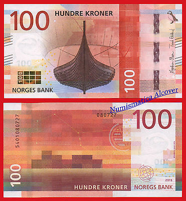 NORUEGA NORWAY 100 Kroner 2016 (2017) Viking ship Pick NEW  SC / UNC
