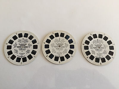Vintage View-Master Disney World The Vacation Kingdom Complete 3 Reel Set H20
