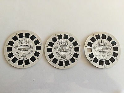 Vintage View-Master Disney Adventureland Magic Kingdom Complete 3 Reel Set H23