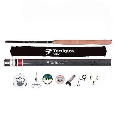 Tenkara USA Iwana Fly Rod & Accessories Kit with Level Line and Line Keeper