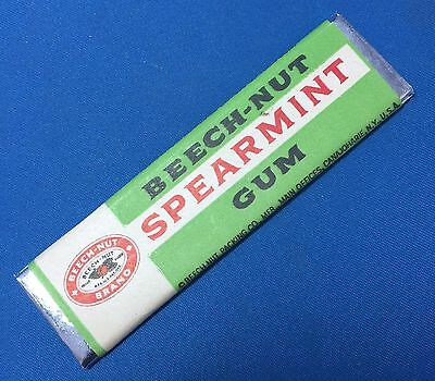 Original Vintage BEECH NUT Spearmint CHEWING GUM Slice FREE SAMPLE