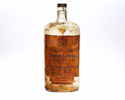 Old SPECIAL LIQUEUR Scotch Whisky Empty Bottle John Dewar & Sons Perth Rustic