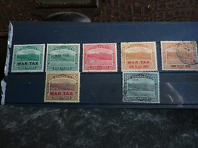 Dominica over print stamps