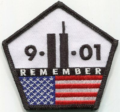Remember 9/11/01 Memorial Patch /// Police - Fire - EMS - Military