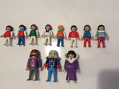 Playmobil Vintage 1980`s People Action Figures Lot
