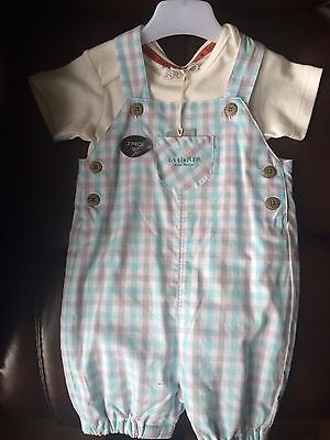 Little John Rocha 9/12 Months Tshirt And Dungaree Set