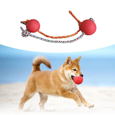 Durable Indestructible Puppy Dog Chew Toys Dog Gift Pet Toy Rope Rubber Ball