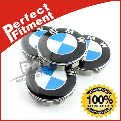 Crazy Sale Center Caps For BMW  68mm Emblem Logo Badge Hub Wheel Rim 4pcs