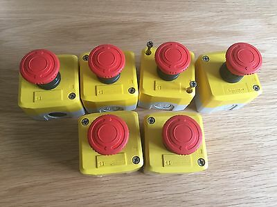 6 Off Telemecanique Emergency Stop Switch XAL K174