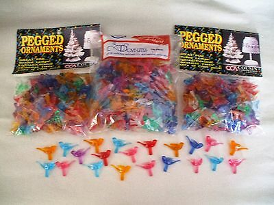 3 Bags Of Ceramic Christmas Tree Acrylic Dove Bird Lights - Approx. 300+/- Pcs.