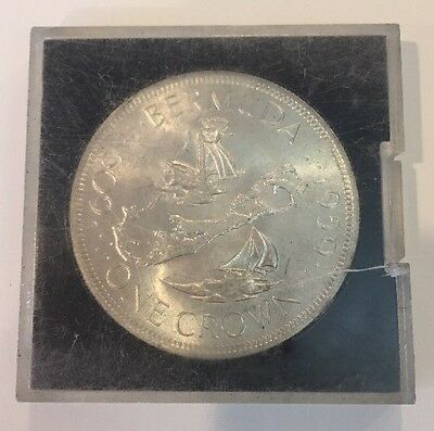 1959 Bermuda Silver One Crown Elizabeth Ii