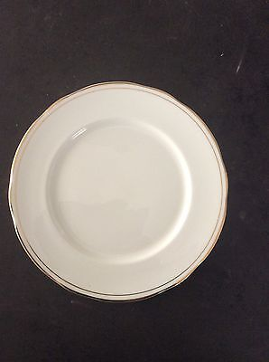 Duchess Bone China Ascot, Plate, In White With Gold Guilding,