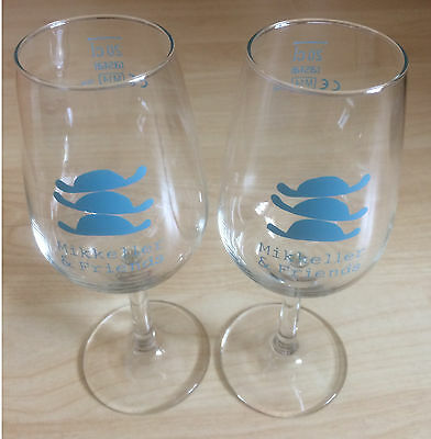 Set of 2 MIKKELLER 'Mikkeller & Friends' Beer Glasses - NEW 20cl